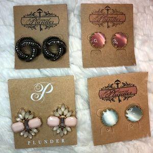 4 pair earrings